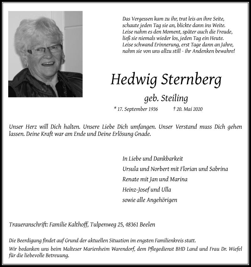Traueranzeigen Sternberg